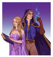 Commission - Ginavieve and Ethan by LiberLibelula
