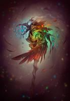 Grim Doom - Staff of the Elements by LiberLibelula