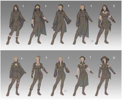 Adra's wardrobe designs by LiberLibelula
