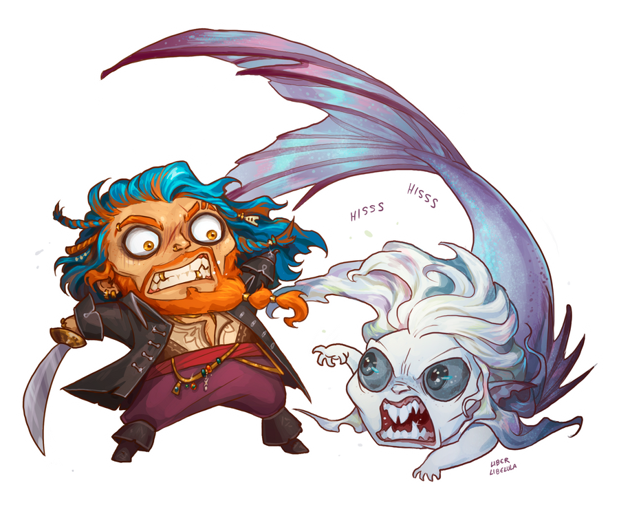 Chibi Cordelius and Allura by LiberLibelula