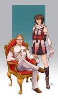Commission - The Boss and Sendai by LiberLibelula