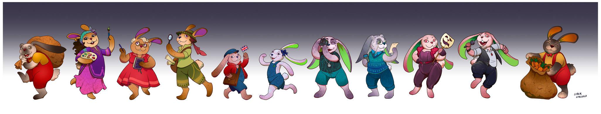 Rabbit family by LiberLibelula