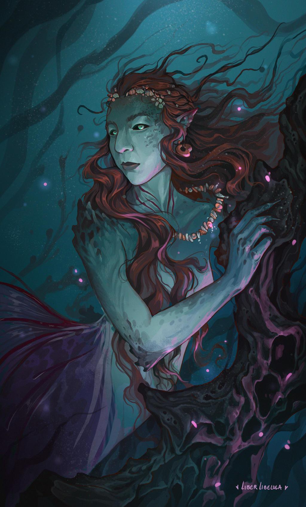 Kat the Mermaid by LiberLibelula