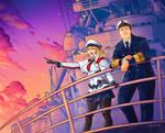 Commission - Naval sunset by LiberLibelula