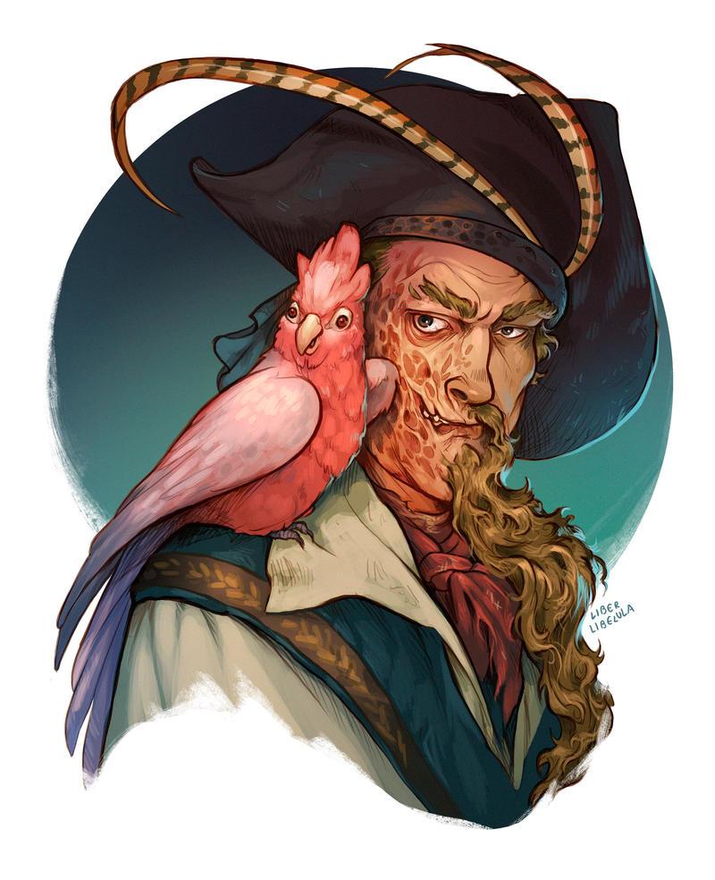 Commission - Captain Barbarrada by LiberLibelula