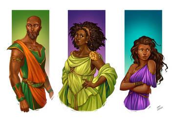 Commission - Unholy Gifts' characters by LiberLibelula