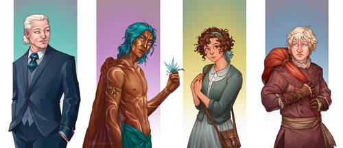 Characters - La Sociedad de la Libelula by LiberLibelula