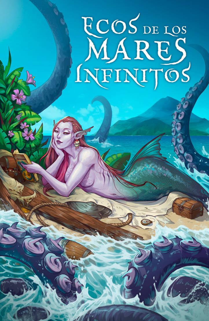 Book cover - Ecos de los Mares Infinitos by LiberLibelula