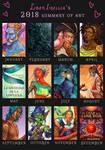 LiberLibelula's Art Summary 2018 by LiberLibelula