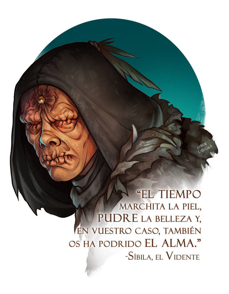Commission - The Black Druid by LiberLibelula