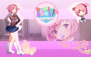 (DDLC)Natsuki (Desktop wallpapaper) by at--ease