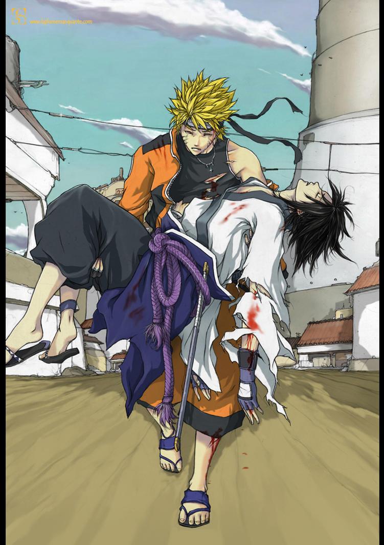 Naruto and Sasuke Ending by Shiroho-Art