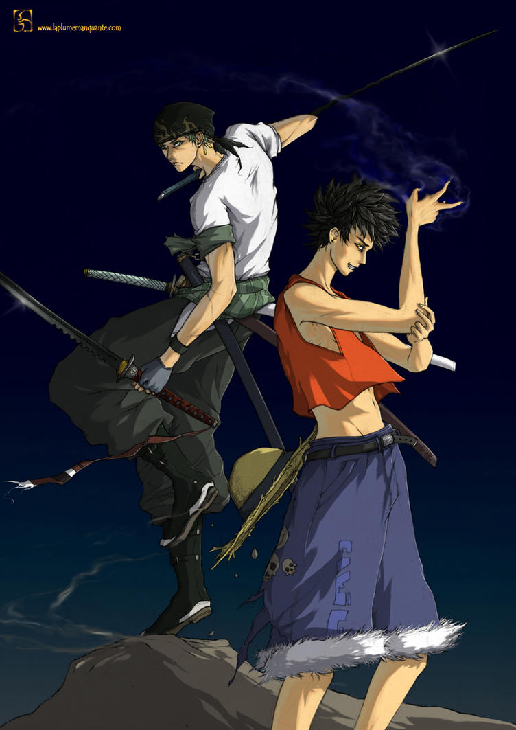 Luffy And Zorro By Shiroho Art