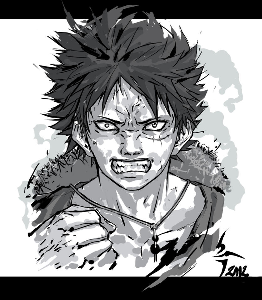 Angry Luffy By Shiroho Art