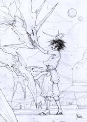 Chyuta and Guardian by Shiroho-Art