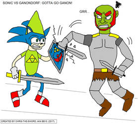 the sonic VS ganondorf battle: epic lolz by chris-the-sword