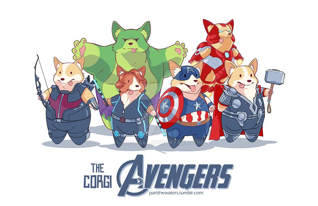 The Corgi Avengers by the-karl