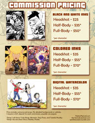 Commission Pricing: 2017