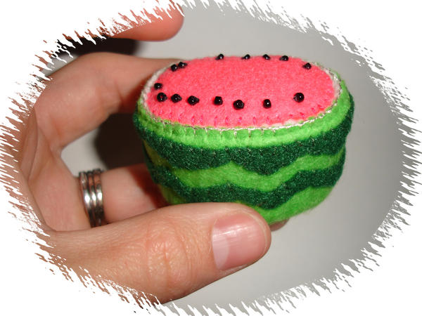 Watermelon Pin Cushion by pcmommy2b