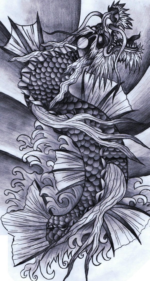 Koi dragon by crimsonkanji on deviantart for Dragon koi fish