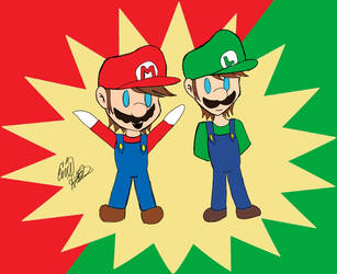 Super Chibi Bros by Jewuo
