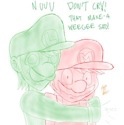 DON'T CRY!!! D: by Jewuo