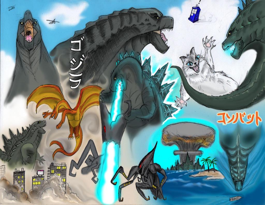 Godzilla Study by SumtimesIplaytheFool
