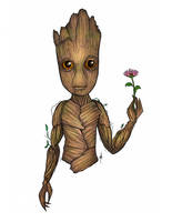 Baby Groot by SumtimesIplaytheFool
