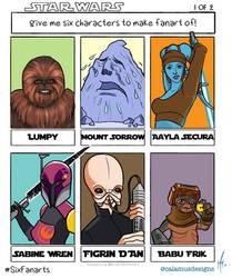 Six Fanarts - Star Wars I by SumtimesIplaytheFool
