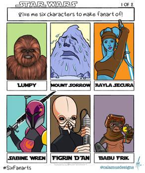 Six Fanarts - Star Wars I