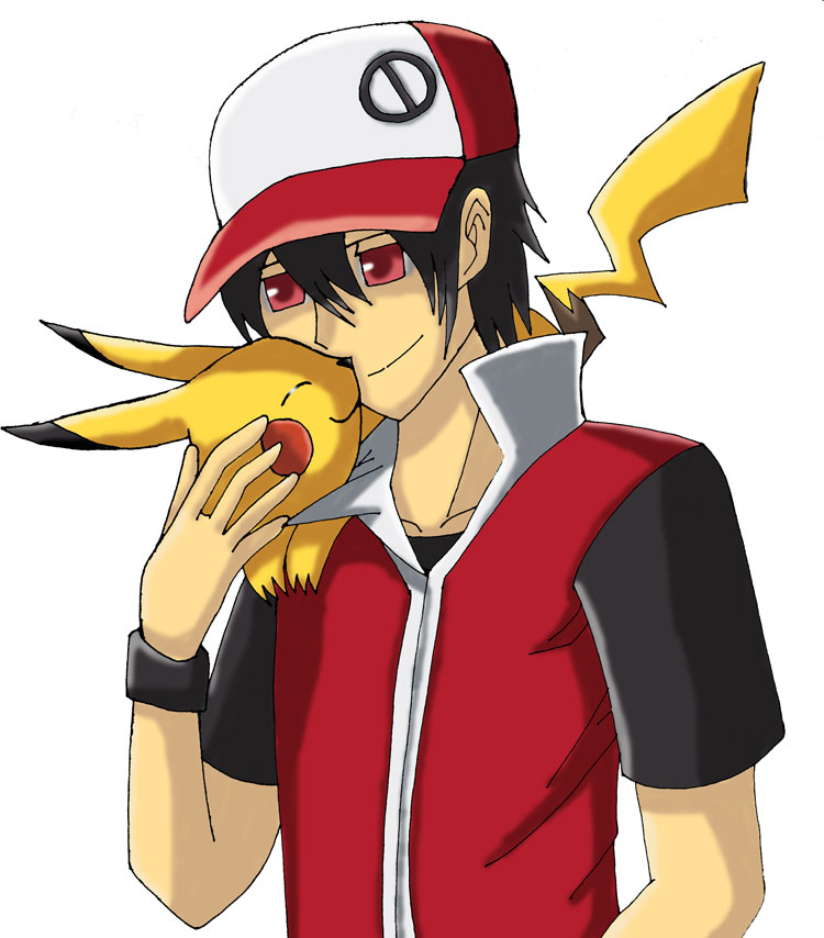 Red and Pikachu by Klonoayxy on DeviantArt