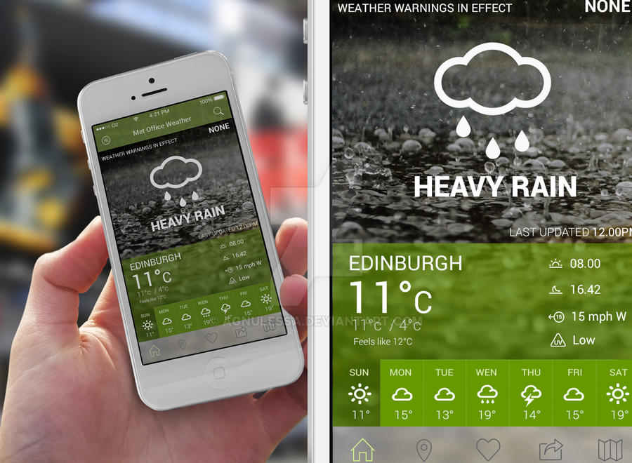 Met Office Re-design Concept (iOS) by Agnulessa