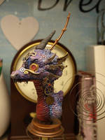 steampunk dragon buste other side by Dreamkeeperfae