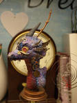 steampunk dragon buste other side
