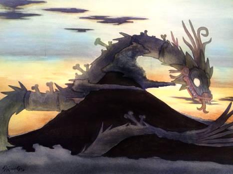Sunrise with Feathered Snake over Popocatepetl