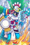 Huitzilopochtli - Fierce like Fire, Sky Blue