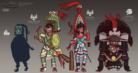 Donaj and Itzcacalotl - Character Designs 01