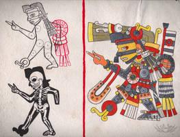 Codex Tlauetziyok - 03 - Tezcatlipoca by Shi-Gu