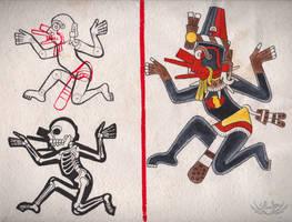 Codex Tlauetziyok - 07 - Ehecatl by Shi-Gu