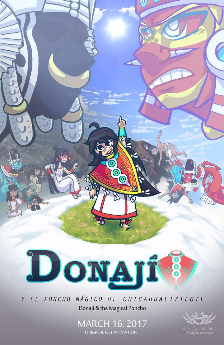 Donaji and the Magical Poncho - Poster by Shi-Gu