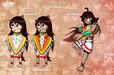 Donaji - 2011 VS 2018 by Shi-Gu