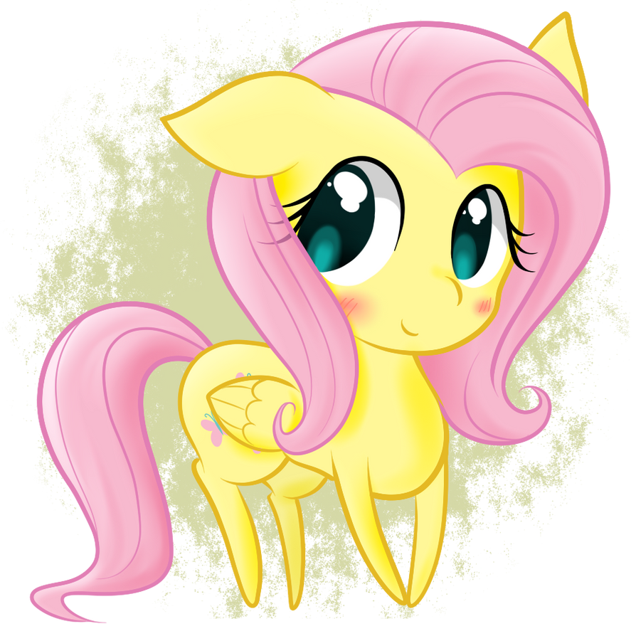 Chibi Fluttershy by StaticWave12 on DeviantArt