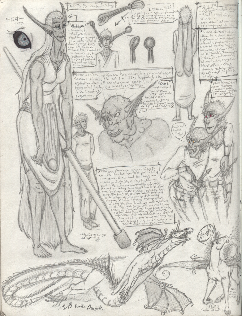 SketchbookPG105-WildDrowNotes by DemonLog