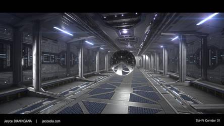 Sci-fi Corridor 01 by Shinryou