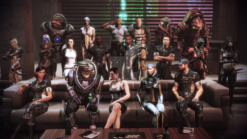 ME3/Citadel DLC: My group photo by Padzi
