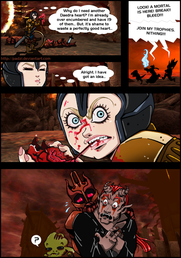 TESIV Oblivion: Daedra Heart Eater by Padzi