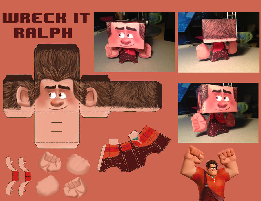 Wreck it Ralph BlockHead by HayNateHaywood