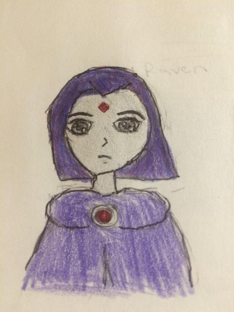 Raven sketch  by Melyrea