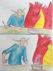 Dragon creme brulee by mintdr