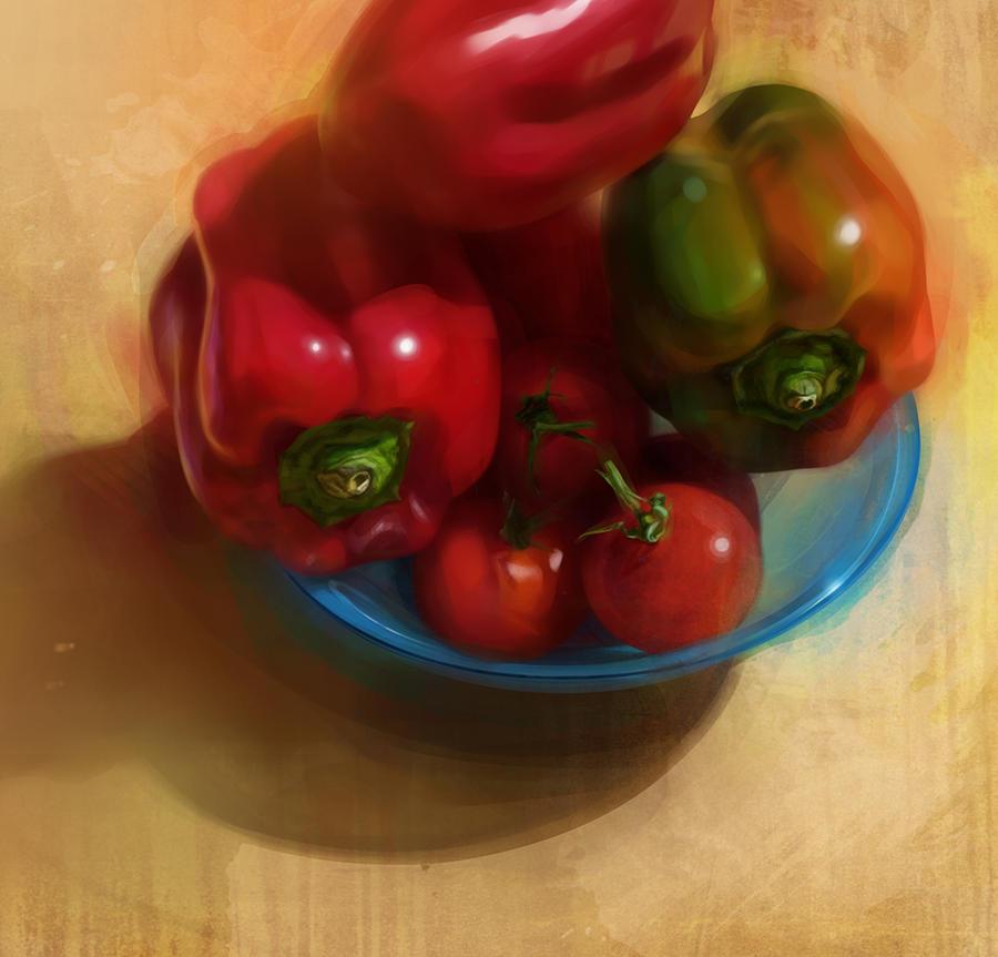 Tomates et poivrons by bastienmillan